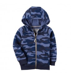Темно-синяя кофта Картерс на флисе (Код: 04741)