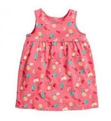 Платье HM розовое с фруктами (Код: 14423)