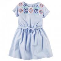 Платье Картерс с вышивкой (Код: 04463)