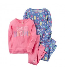 Пижама 4в1 Картерс с цветными монстриками (Код: 04620)