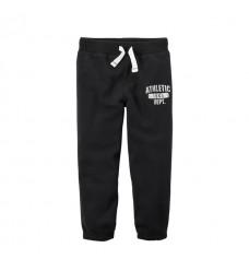 Черные штаны-джоггеры Картерс на флисе (Код: 04735)