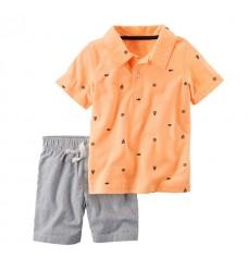 Комплект Картерс футболка и шорты (Код: 04330)