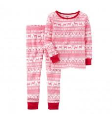 "Хлопковая пижама Картерс ""Зимний принт"" (Код: 04815)"