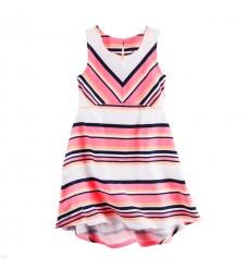 Платье Картерс полосатый принт без рукавов (Код: 04573)