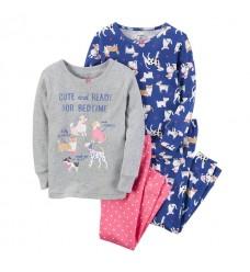 """Серо-розовая пижама Картерс """"5  милых собачек"""", 1шт (11451-02)"""