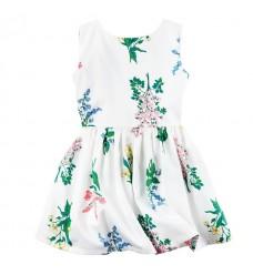 Платье Картерс белое в цветы (Код: 04461)