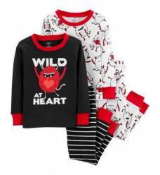"""Пижама 4в1 Картерс """"Wild at heart"""" (11117-01)"""