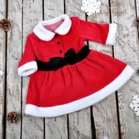 Новогодние велюровое платье MagBaby (Код: 06223)