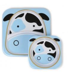 Набор тарелок Skip Hop «Корова» (Код: 07911)