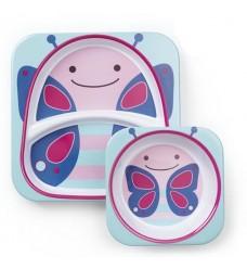 Набор тарелок Skip Hop «Бабочка» (Код: 07909)